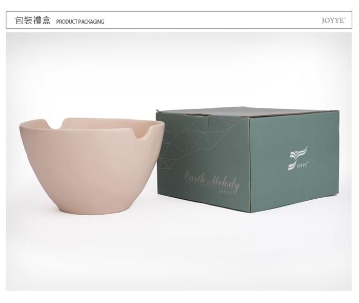 (複製)【JOYYE陶瓷餐具】自然初語手捏麵碗-綠色