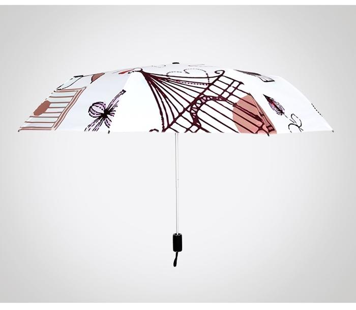 (複製)(複製)德國kobold|抗UV-夏日海灘-超輕巧-按摩手把-遮陽防曬傘-三折傘-綠棕梠