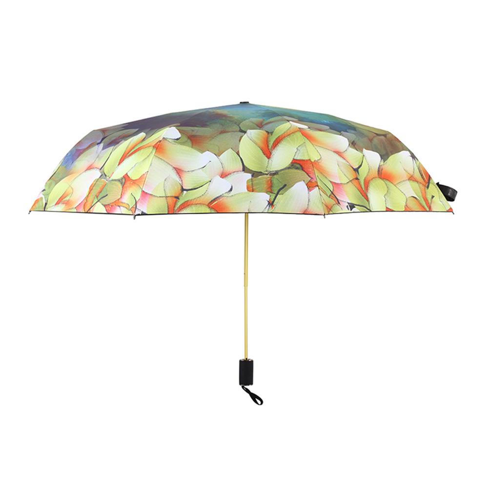 德國kobold 抗UV零透光智能防曬-國際設計師范燕燕-遮陽防曬傘-三折傘-綻放