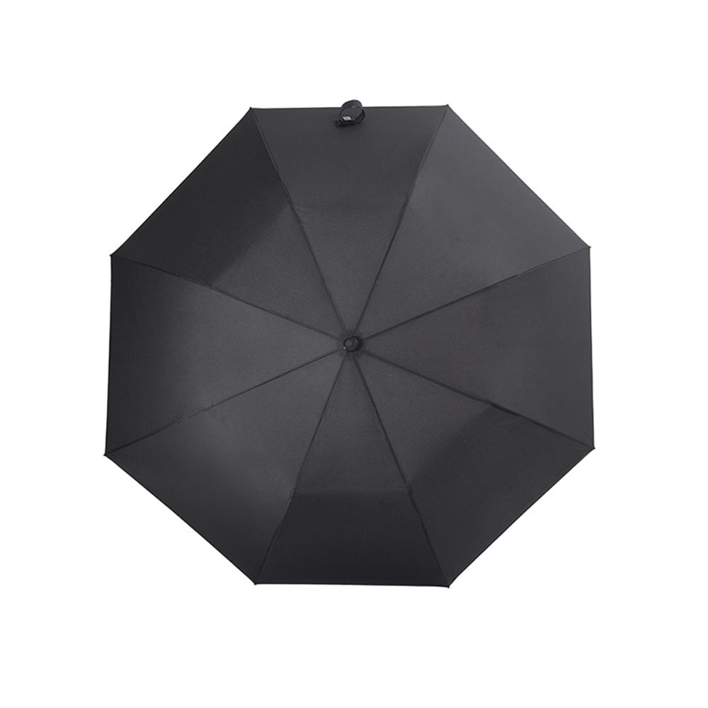 德國kobold|抗UV經典紳士傘-抗強風-楓木手柄-三折傘-黑