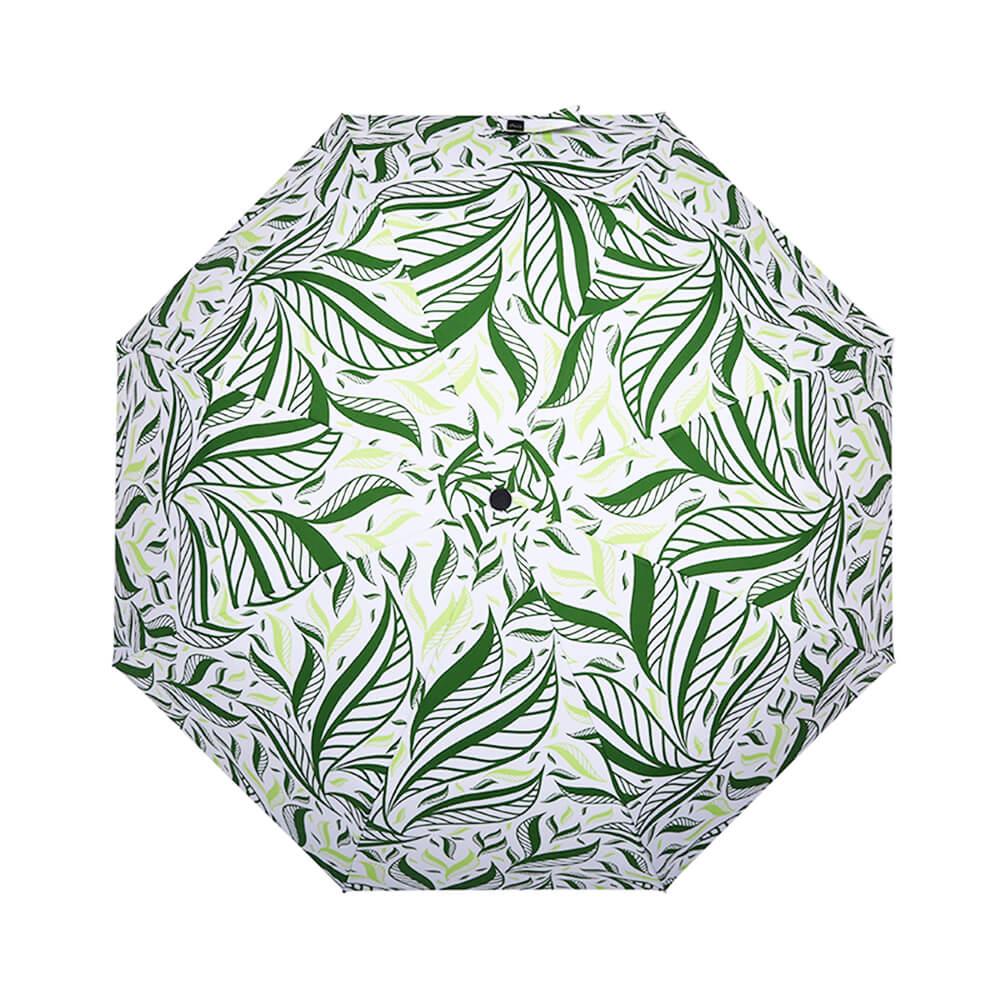 德國kobold 抗UV-Lotus叢林-防潑水紫膠遮陽傘-三折傘-綠
