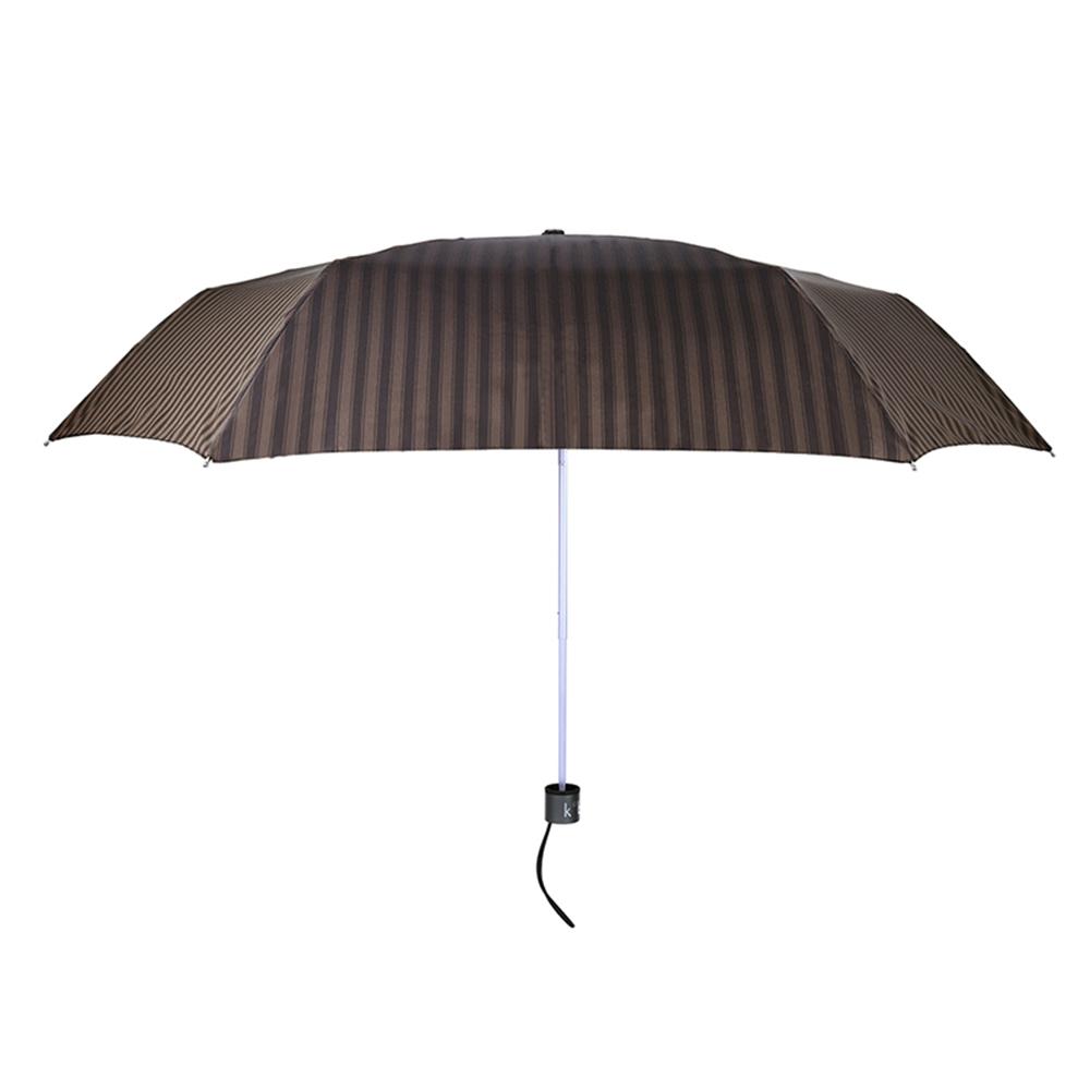 德國kobold|抗UV-經典條紋-超輕男士商務晴雨傘-三折傘-棕