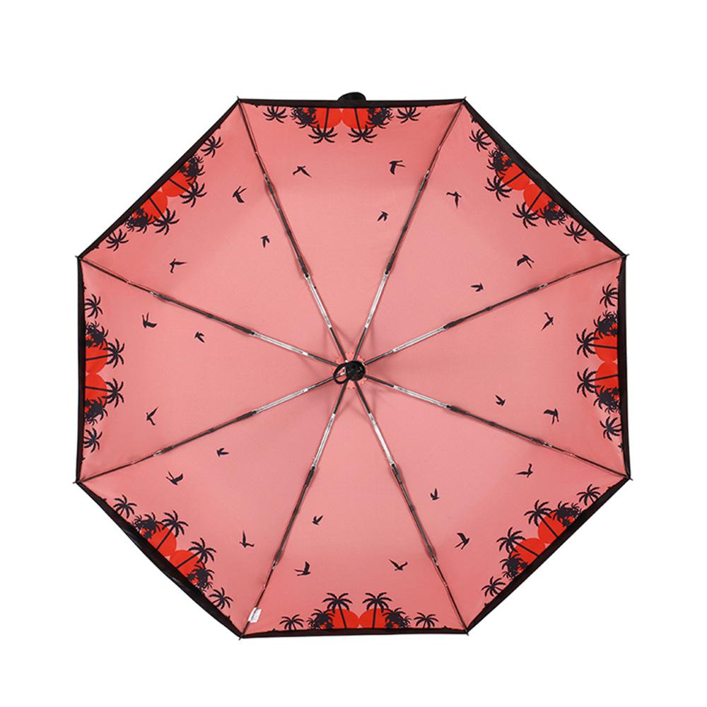 德國kobold|抗UV零透光智能防曬-驚豔系列-遮陽防曬降溫傘 -雙層三折傘-假日紅