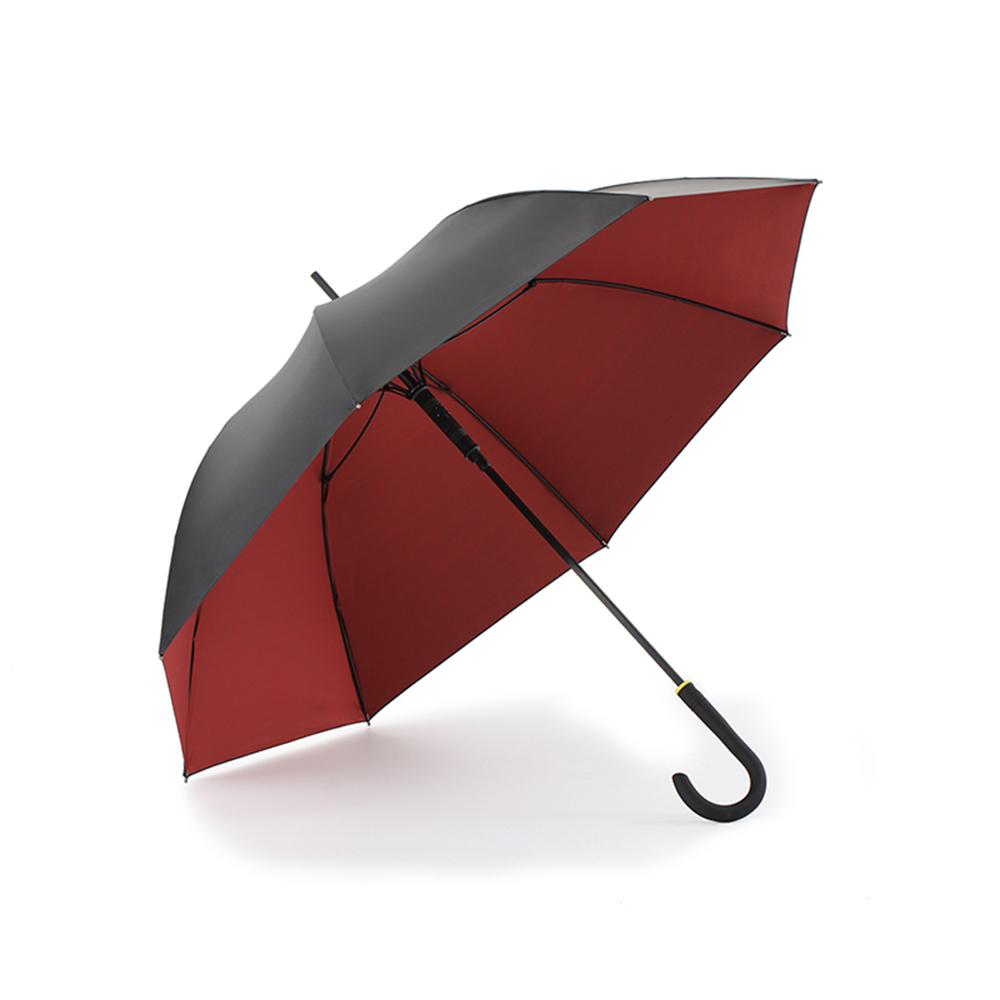 德國kobold|抗UV零透光智能防曬-80Kg超耐重抗強風 -女用遮陽防曬傘-直柄傘-棗深紅