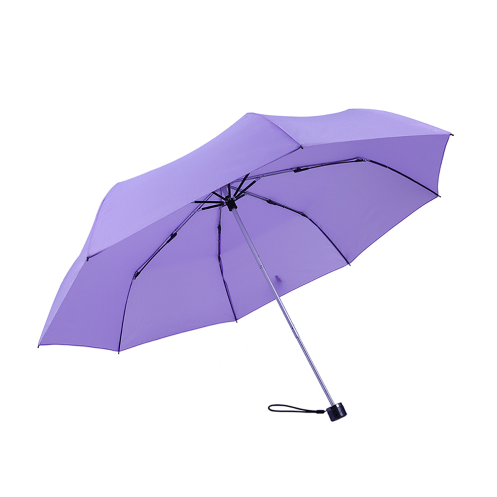 德國kobold|抗UV-Lotus素格紋-防潑水遮陽傘-三折傘-紫