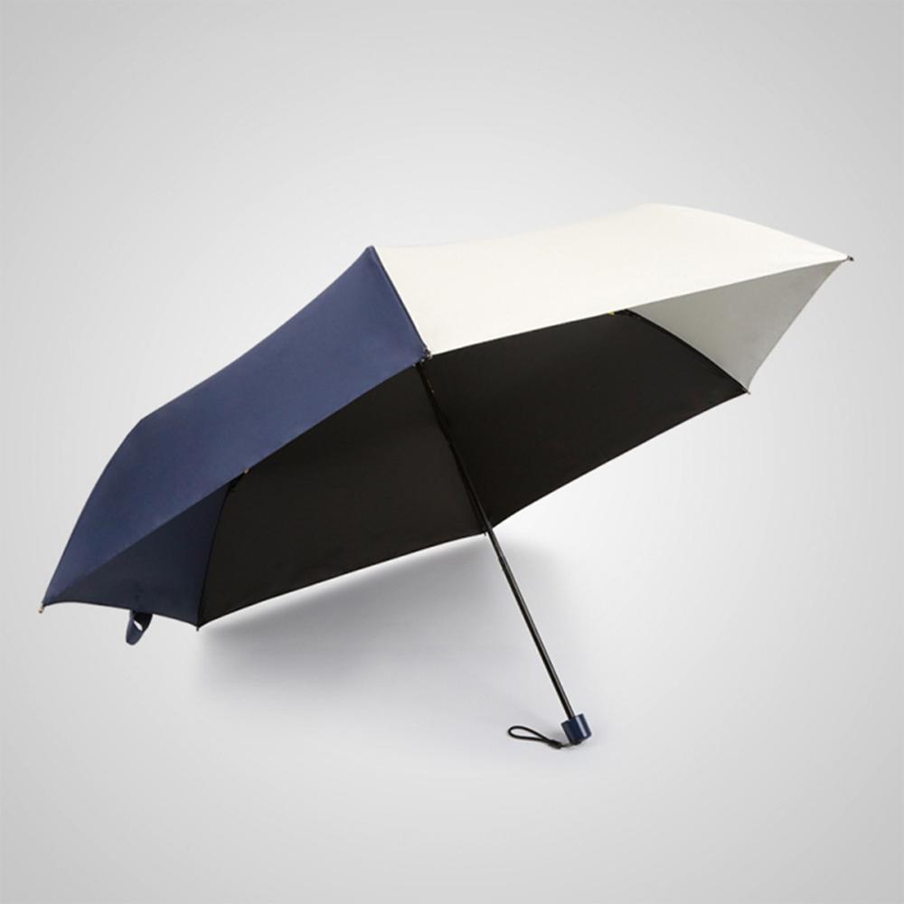 德國kobold 抗UV-潮F撞色系列-超輕巧-遮陽防曬彩膠傘-三折傘-深藍