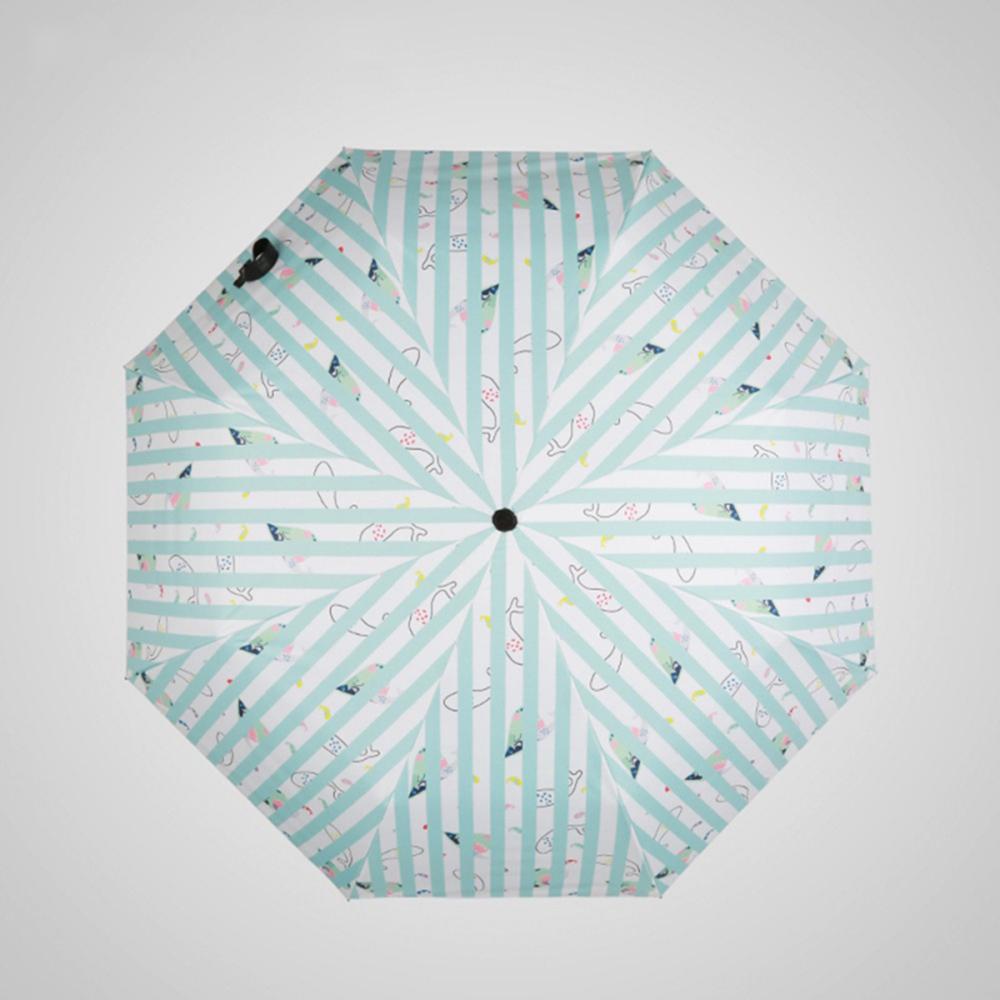 德國kobold|夢幻海洋-超輕巧抗UV防曬三折傘-藍白格調