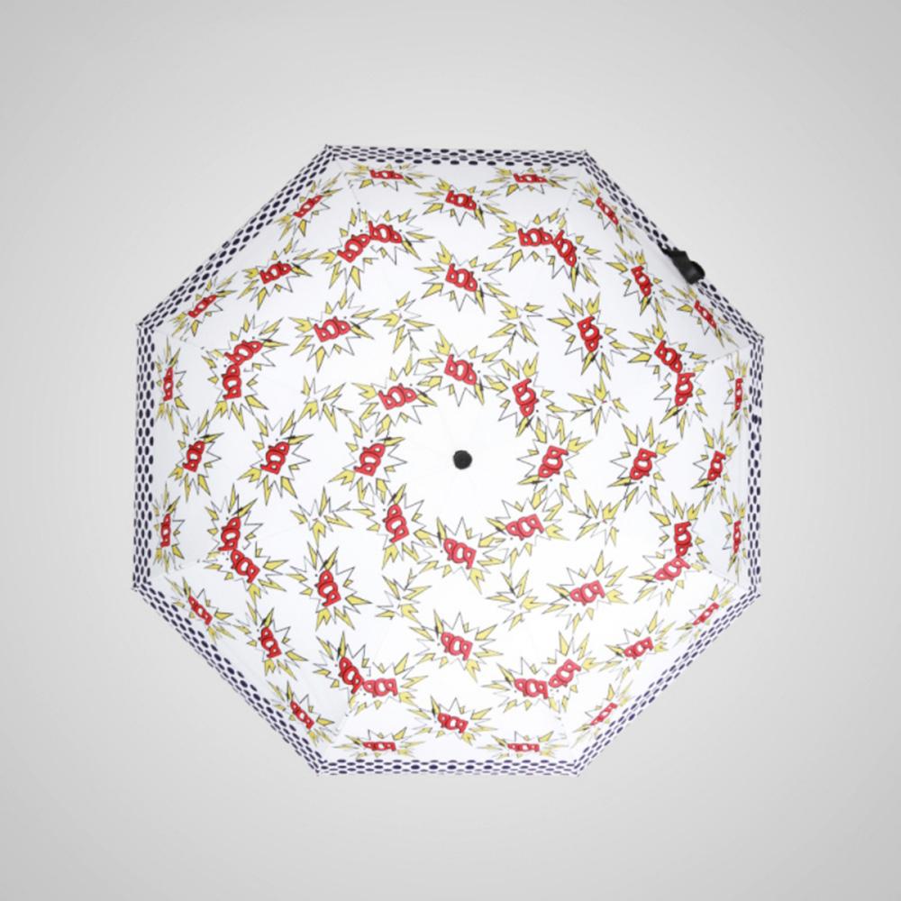 德國kobold|BOB時尚-超輕巧抗UV防曬三折傘-紅白映襯