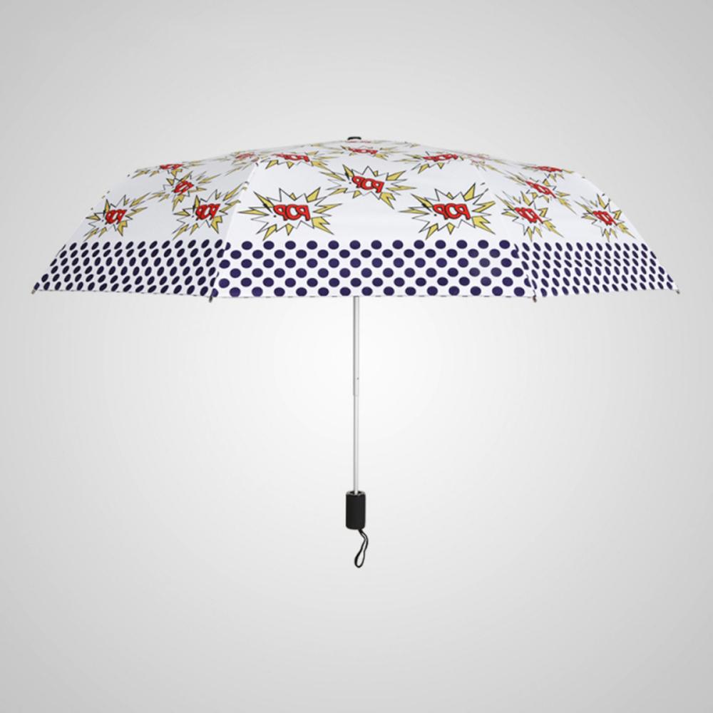 德國kobold BOB時尚-超輕巧抗UV防曬三折傘-紅白映襯