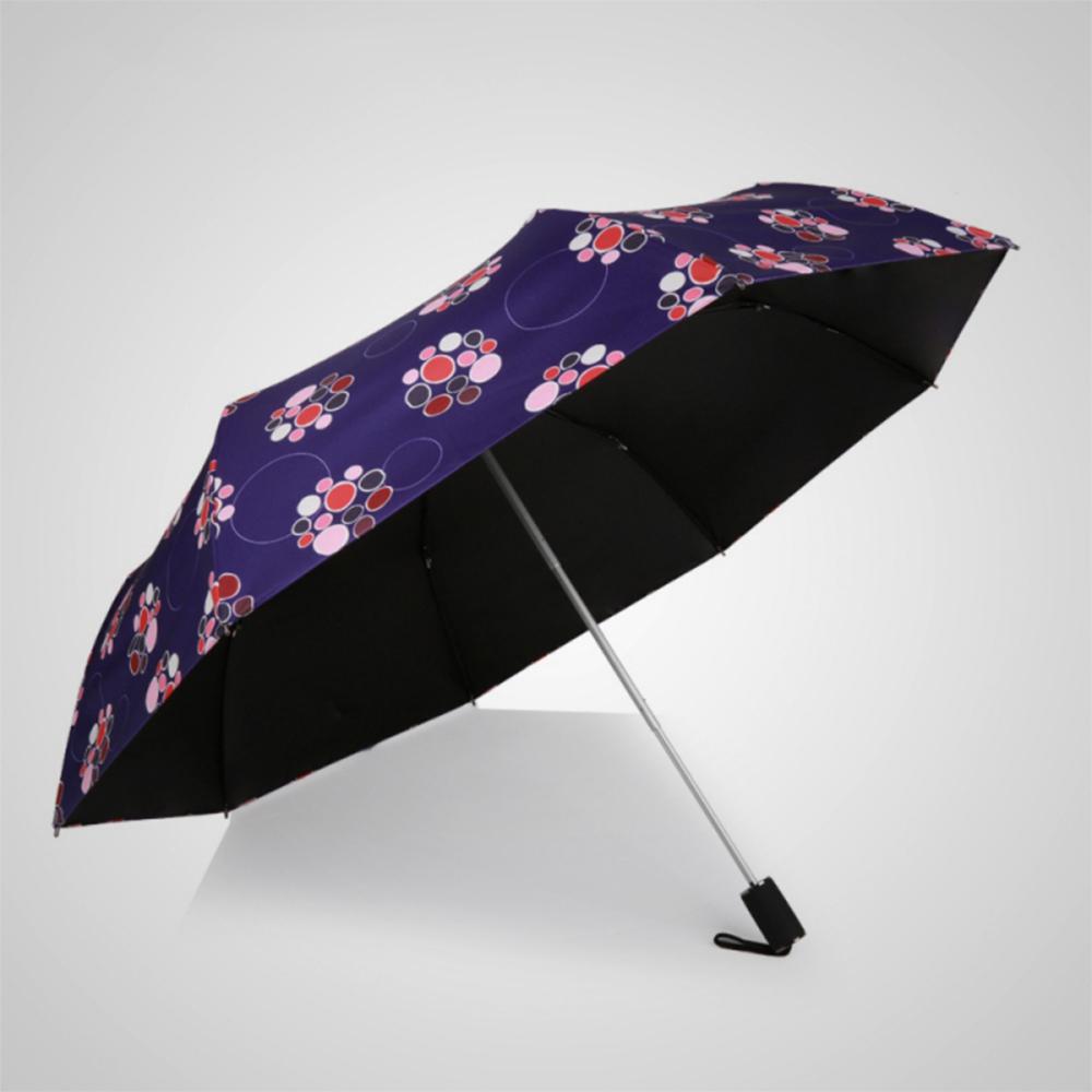 德國kobold|紫胭醉夢-超輕巧按摩手把抗UV三折傘-藍紫伴玫
