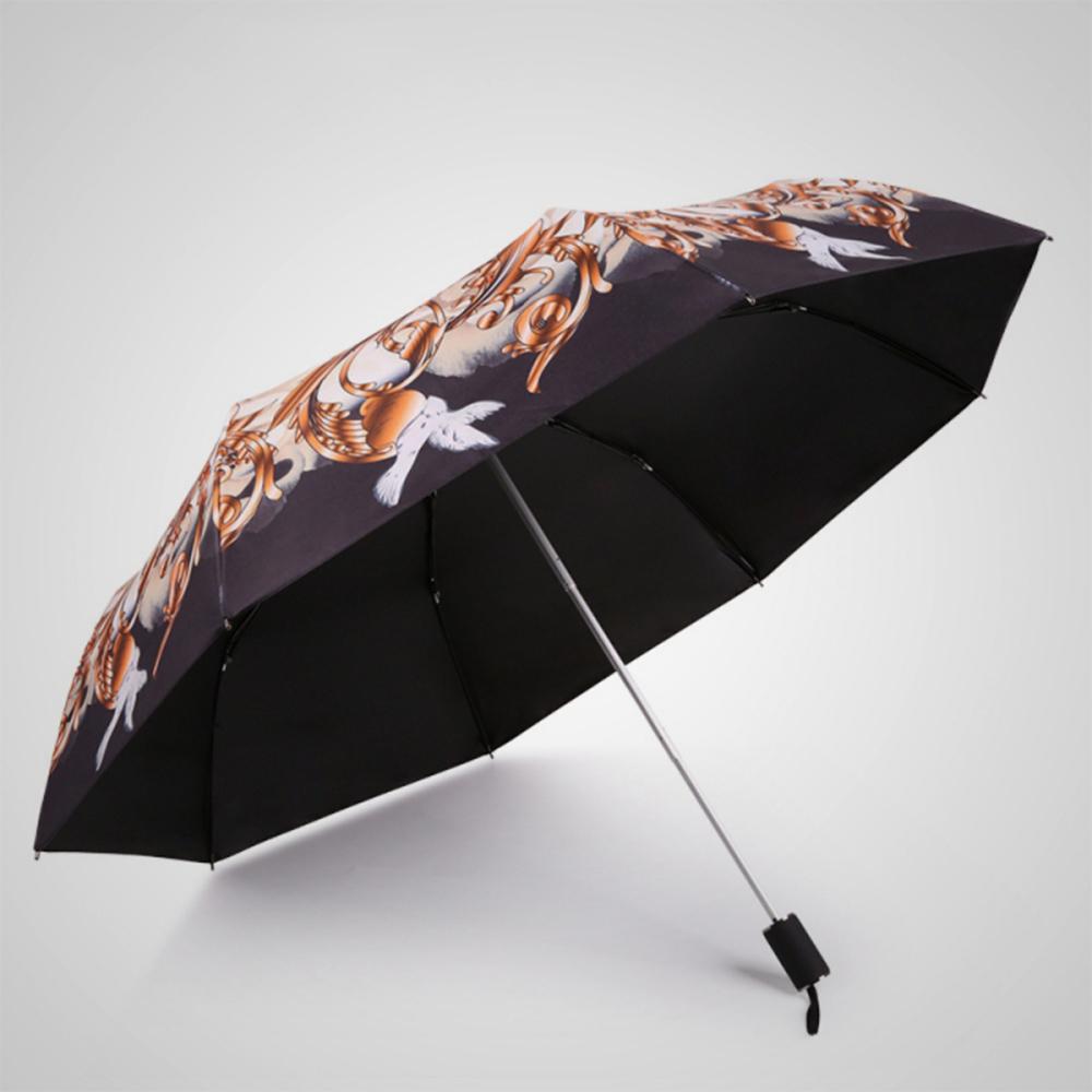 德國kobold 抗UV-超輕巧按摩手把防曬 三折傘-嬌蕊盛開