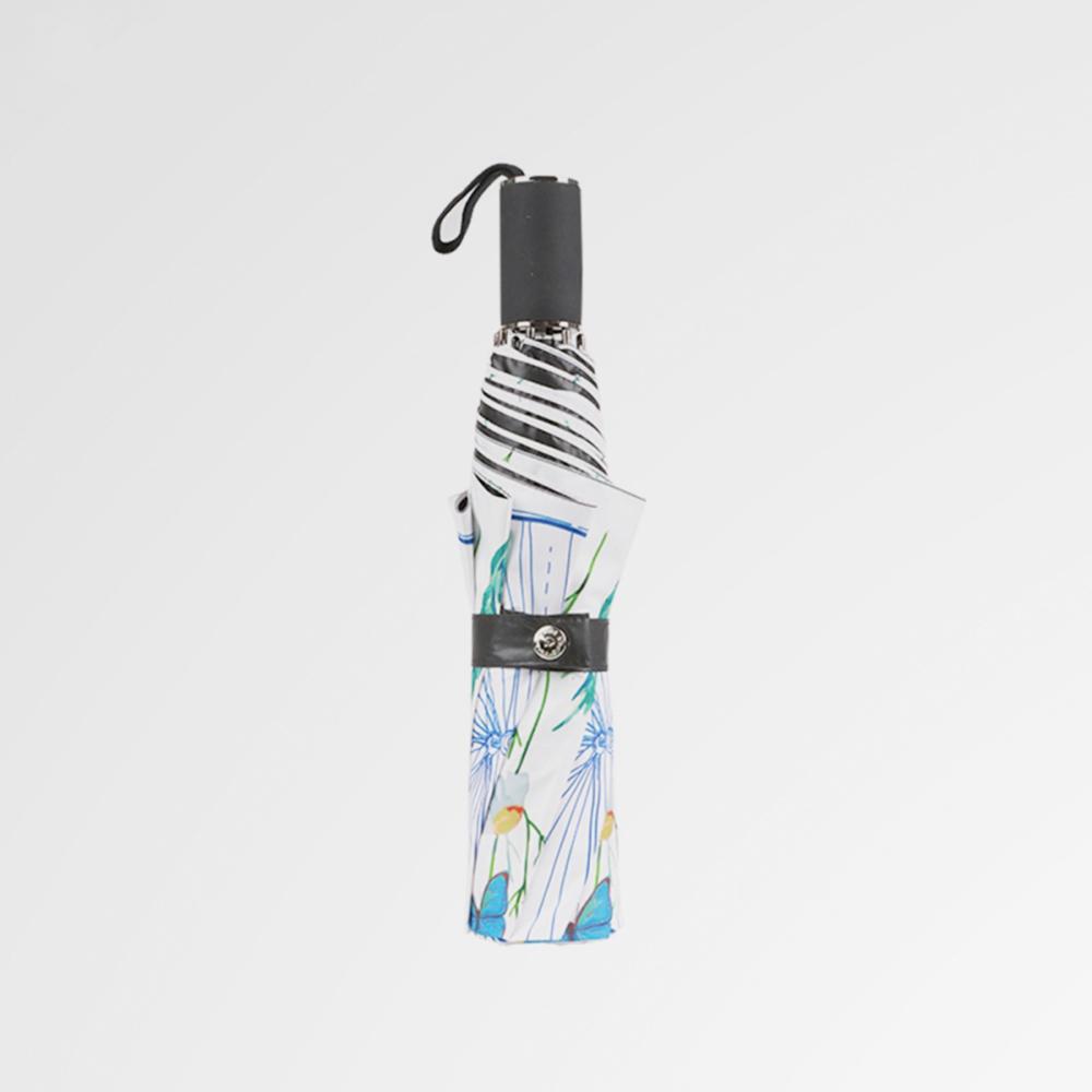 德國kobold|浪漫一夏-超輕巧抗UV防曬三折傘-藍綠相間
