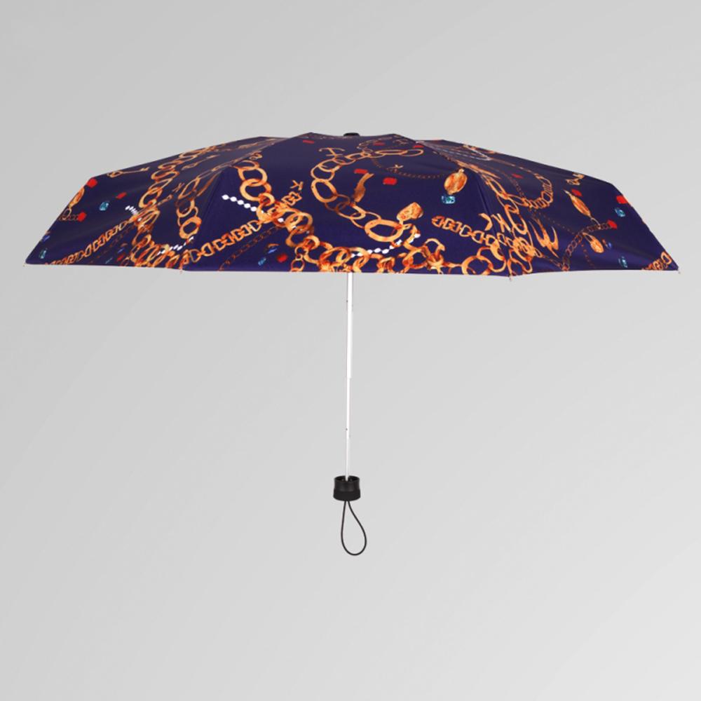 德國kobold|矽膠頭系列-8K超輕巧抗UV五折傘-藍色