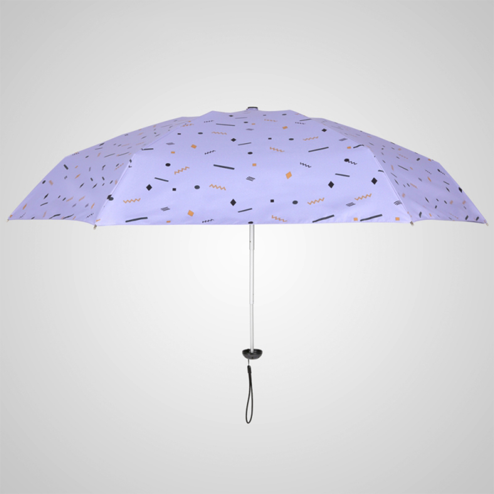 德國kobold|蘑菇頭系列-6K超輕巧抗UV五折傘-藍紫