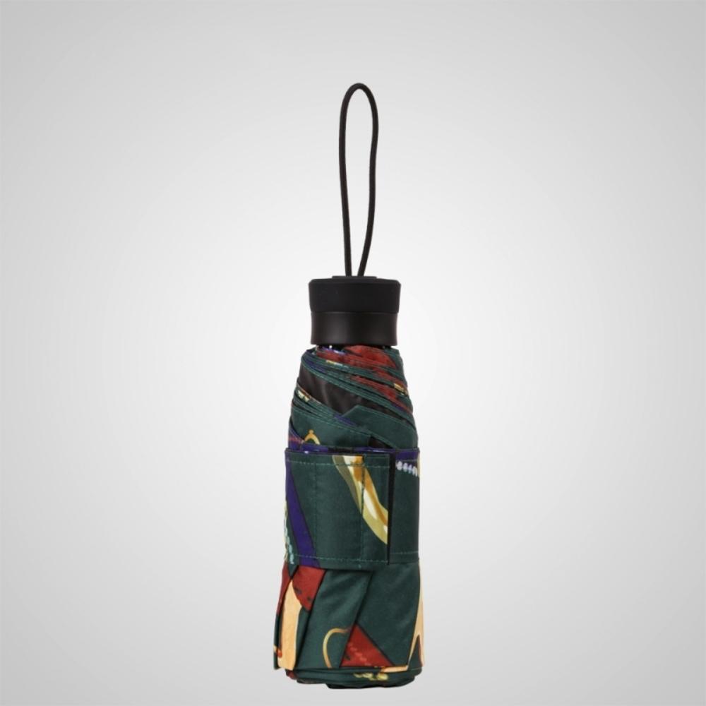 德國kobold|抗UV矽膠頭系列-8K超輕巧-遮陽防曬五折傘-墨綠