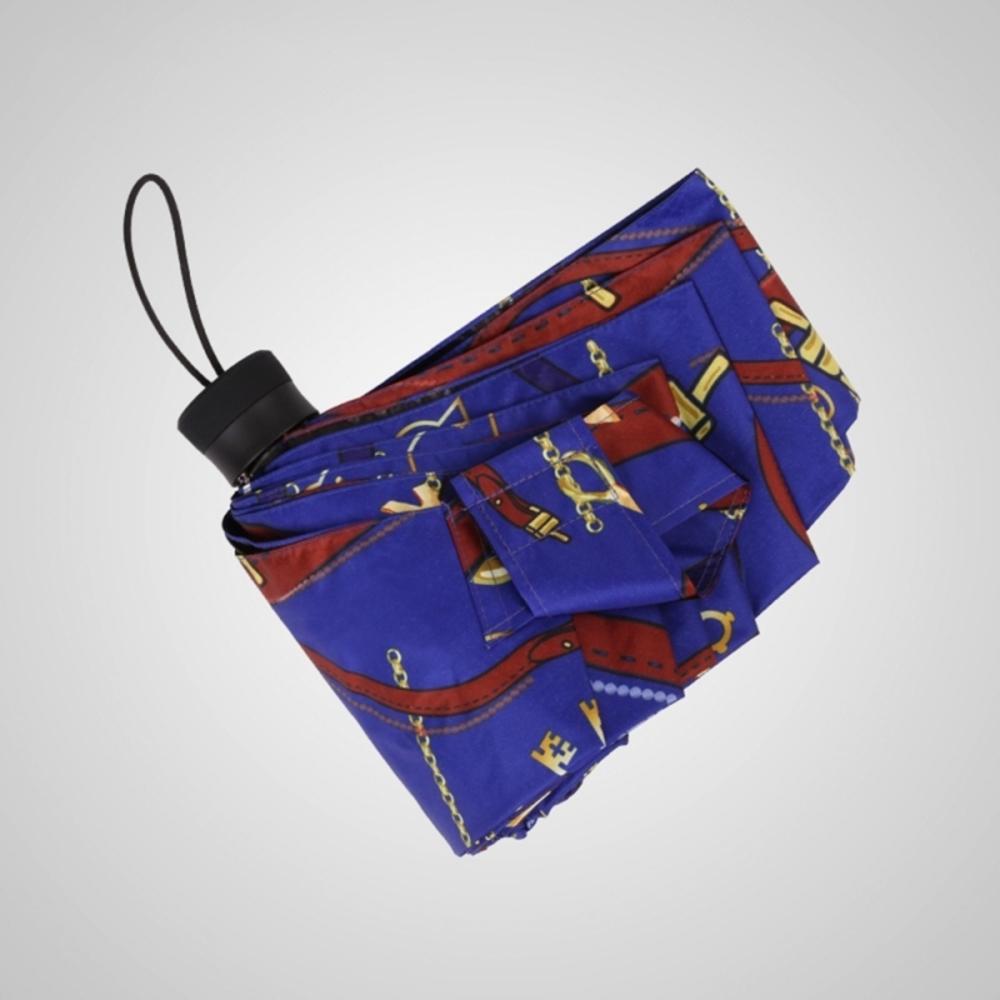 德國kobold|抗UV矽膠頭系列-8K超輕巧-遮陽防曬五折傘-藍紫
