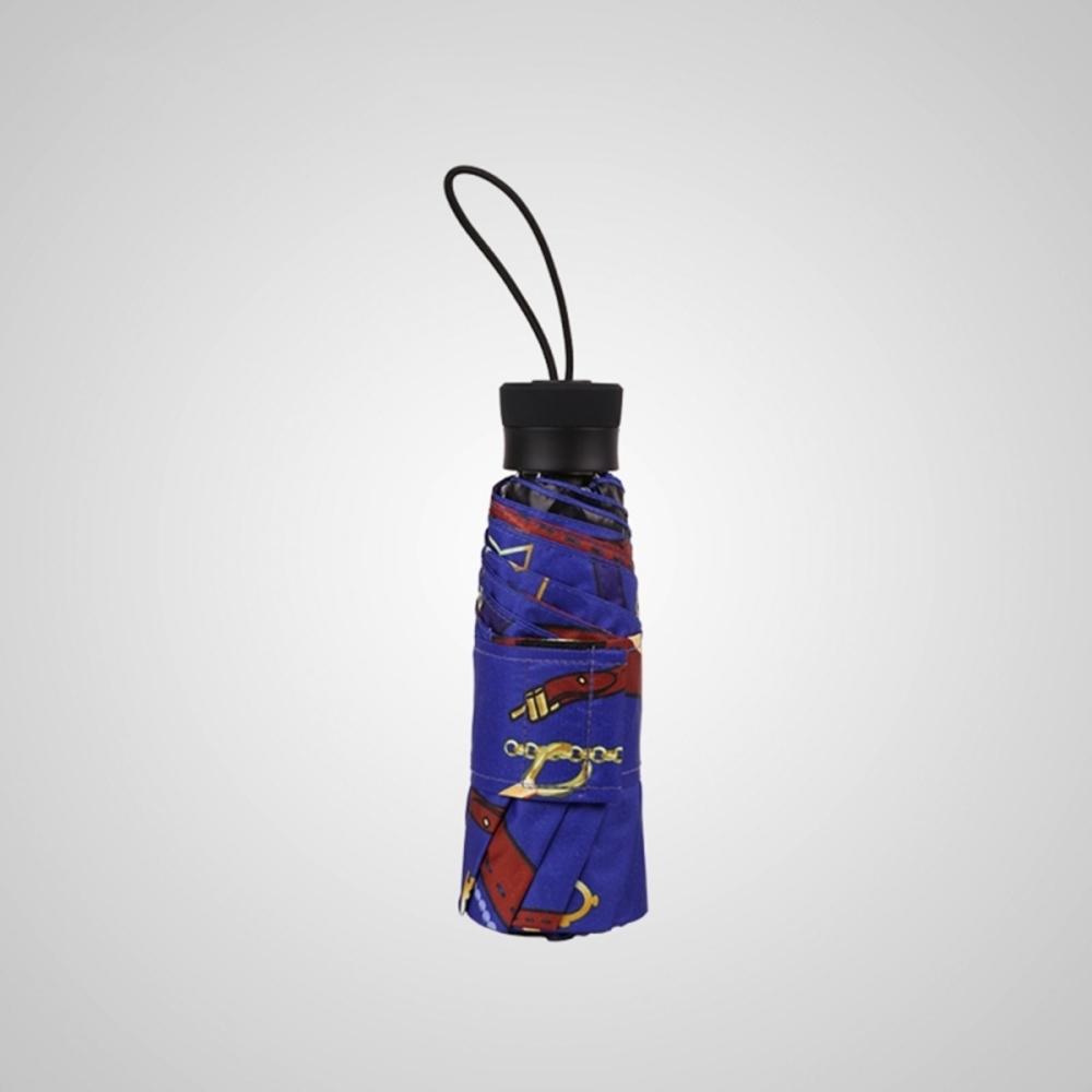 德國kobold 抗UV矽膠頭系列-8K超輕巧-遮陽防曬五折傘-藍紫