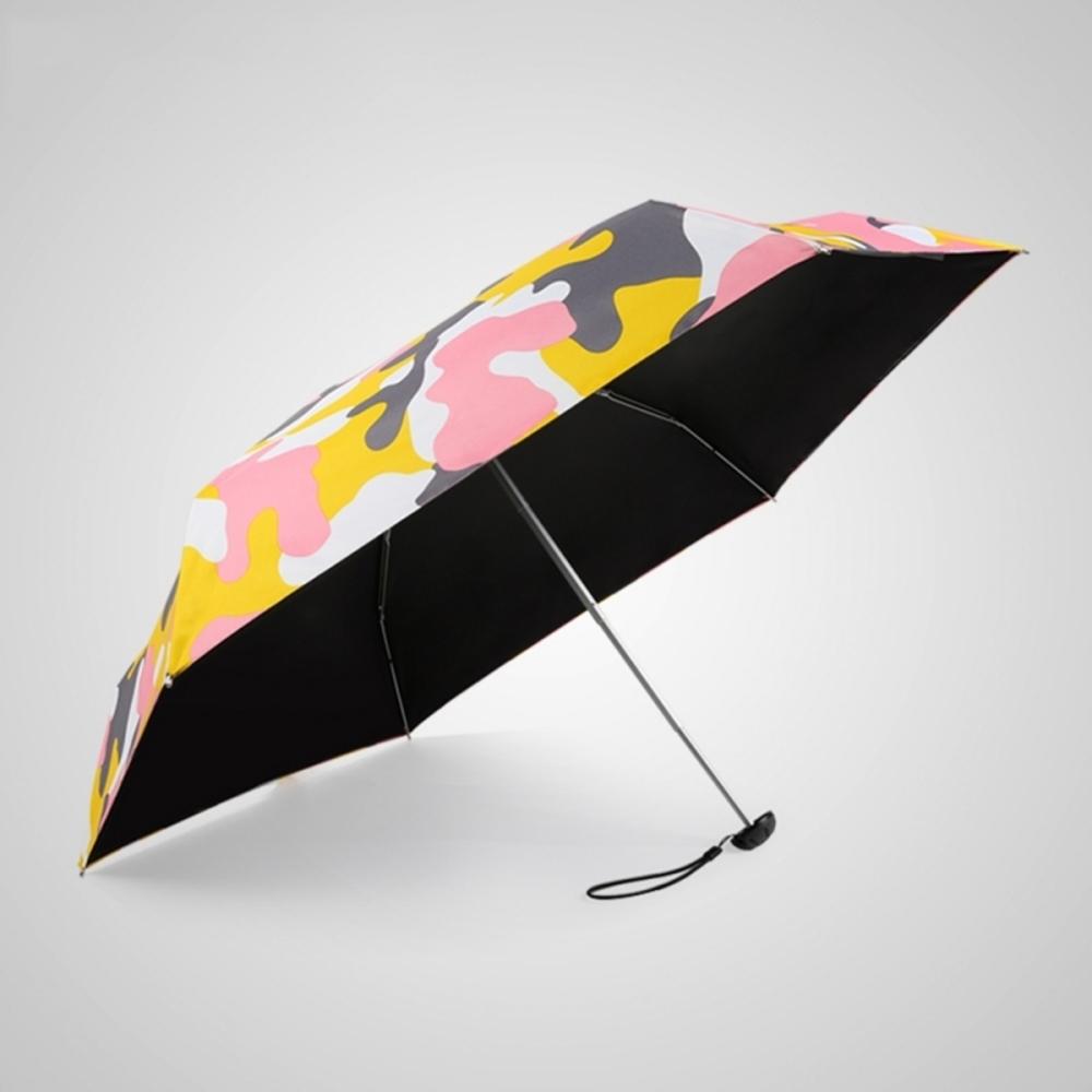 德國kobold 抗UV蘑菇頭系列-6K超輕巧-遮陽防曬五折傘-迷彩粉