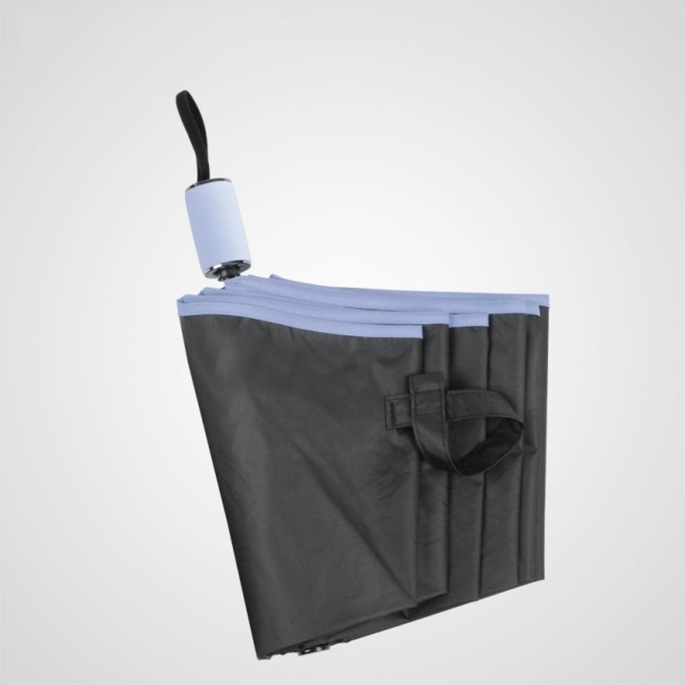 德國kobold|抗UV旋轉芭蕾系列-超輕巧-隱藏傘珠-遮陽防曬三折傘-淺粉藍