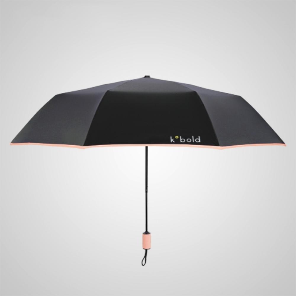 德國kobold|抗UV旋轉芭蕾系列-超輕巧-隱藏傘珠-遮陽防曬三折傘-冰晶粉