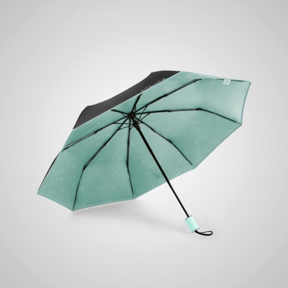 德國kobold 抗UV旋轉芭蕾系列-超輕巧-隱藏傘珠-遮陽防曬三折傘-冰晶粉淺粉綠