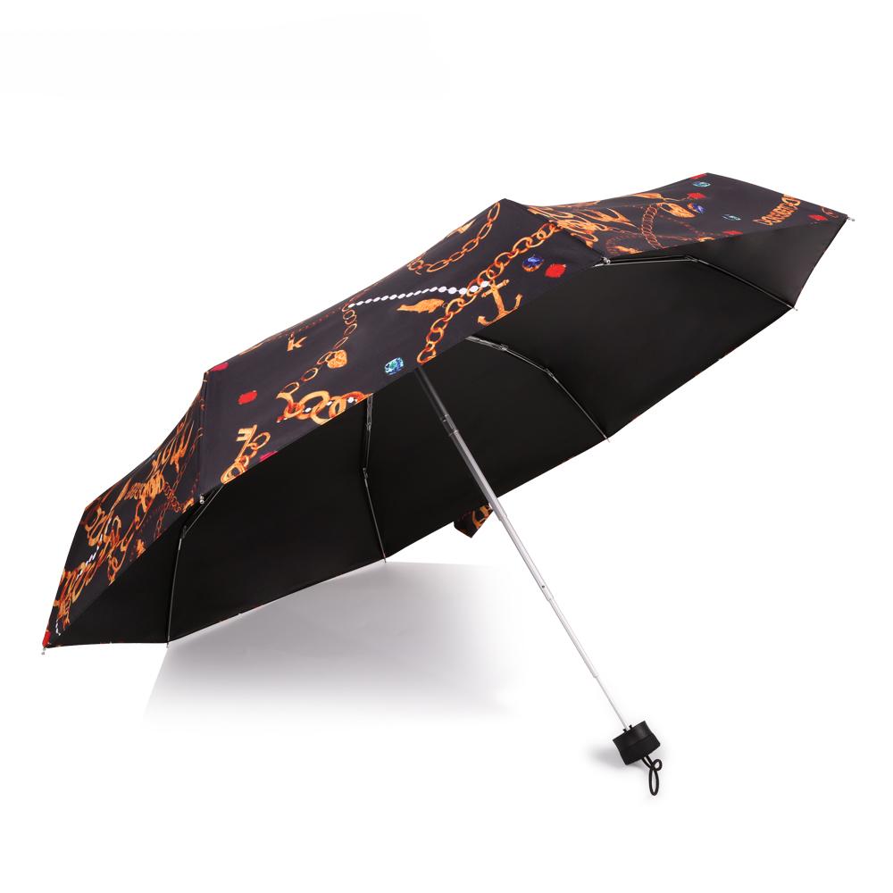 德國kobold|矽膠頭系列-8K超輕巧抗UV五折傘-黑色