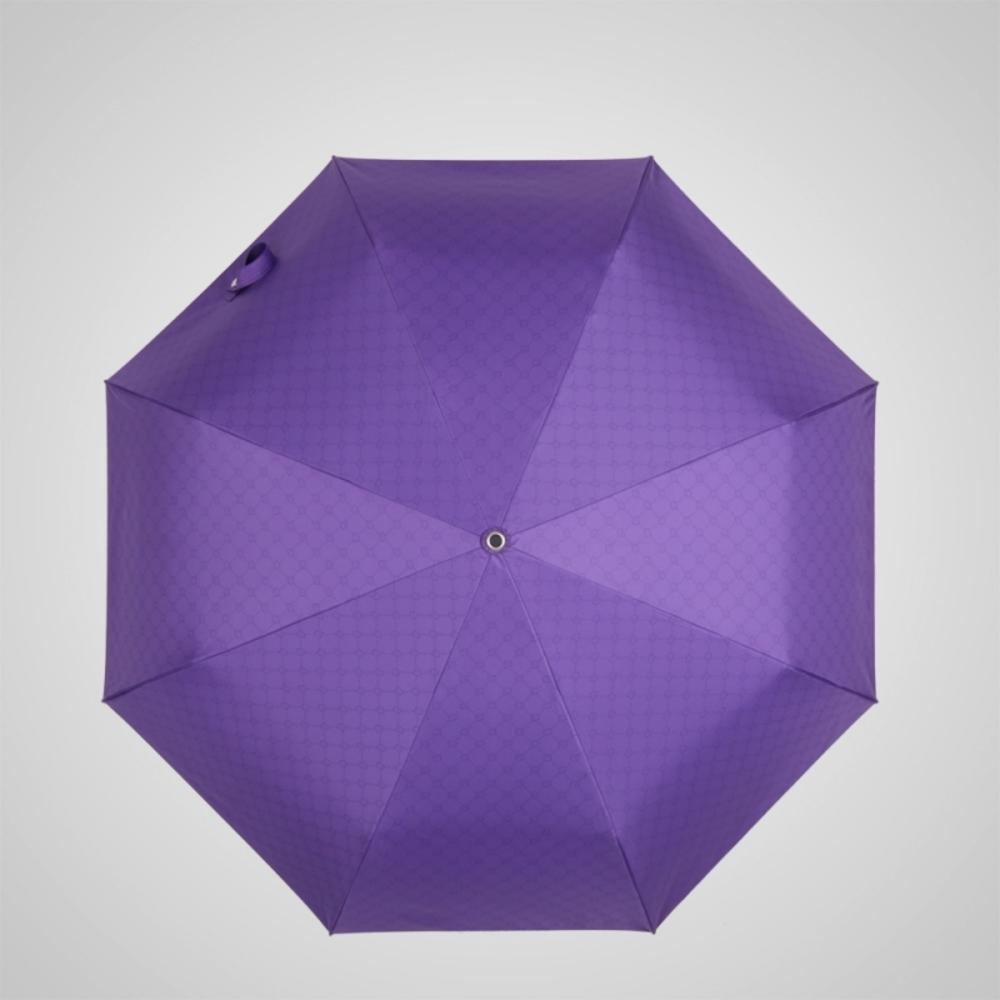 德國kobold 抗UV粉紅女王系列-矽膠蜂巢-按摩手把-遮陽防曬三折傘-貴氣紫
