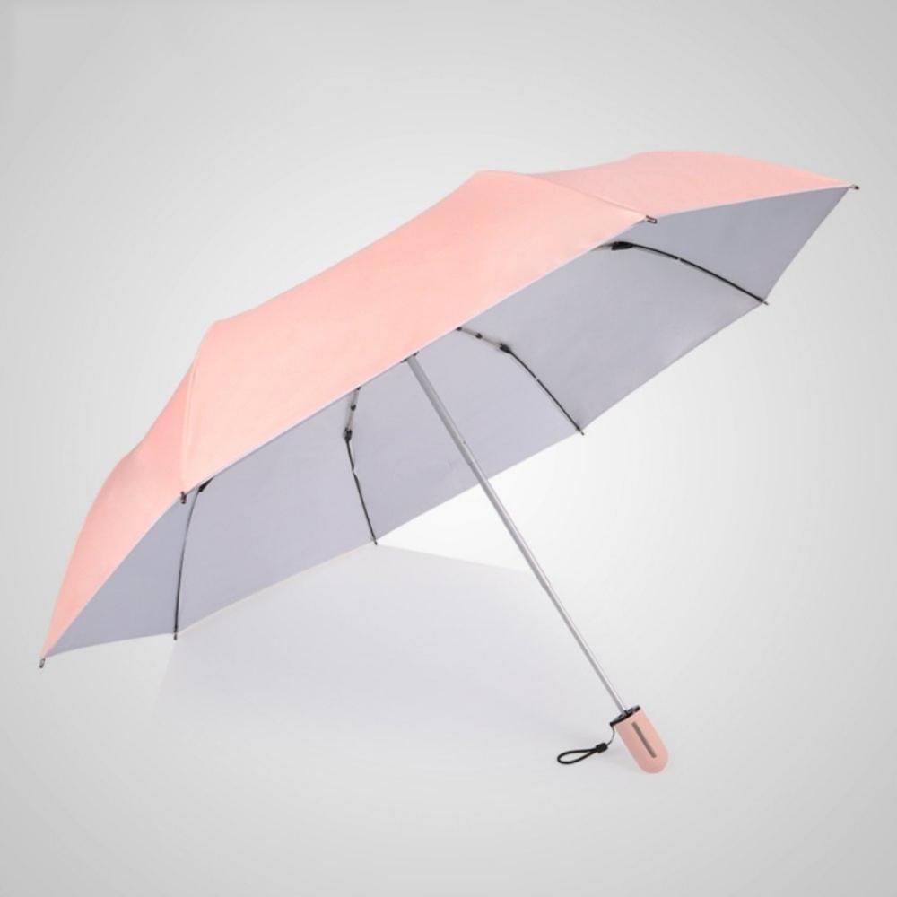 德國kobold|抗UV粉紅女王系列-矽膠蜂巢-按摩手把-遮陽防曬三折傘-公主粉
