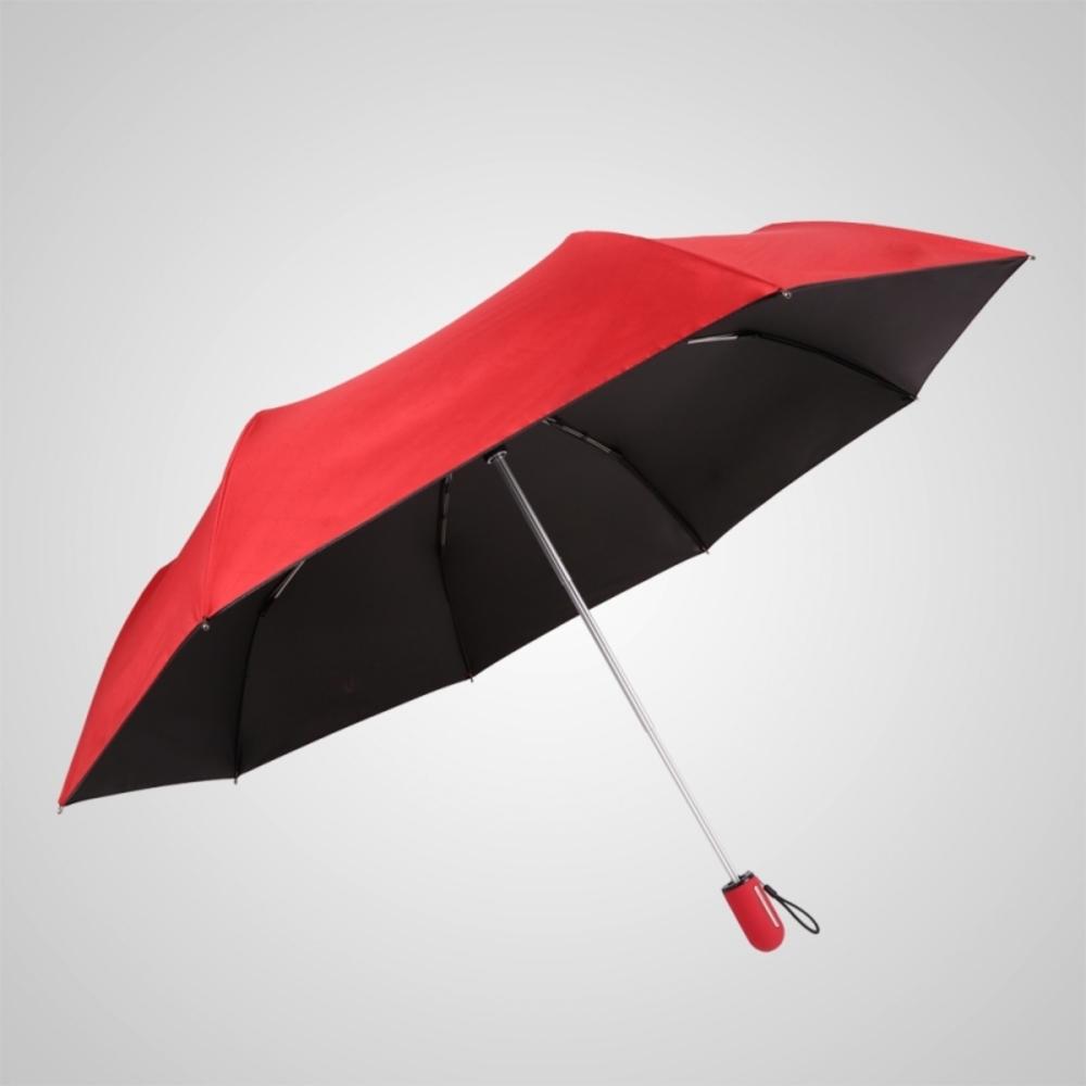 德國kobold|抗UV粉紅女王系列-矽膠蜂巢-按摩手把-遮陽防曬三折傘-女王紅