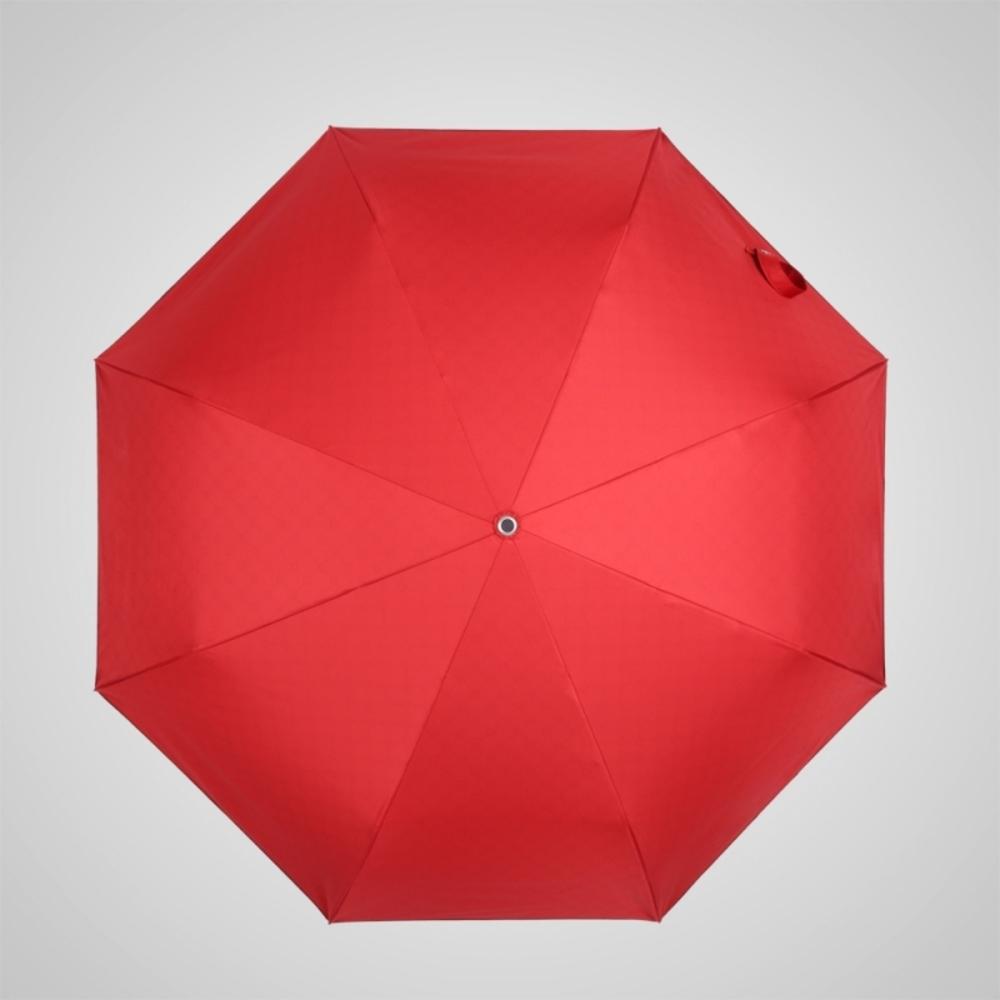 德國kobold 抗UV粉紅女王系列-矽膠蜂巢-按摩手把-遮陽防曬三折傘-女王紅