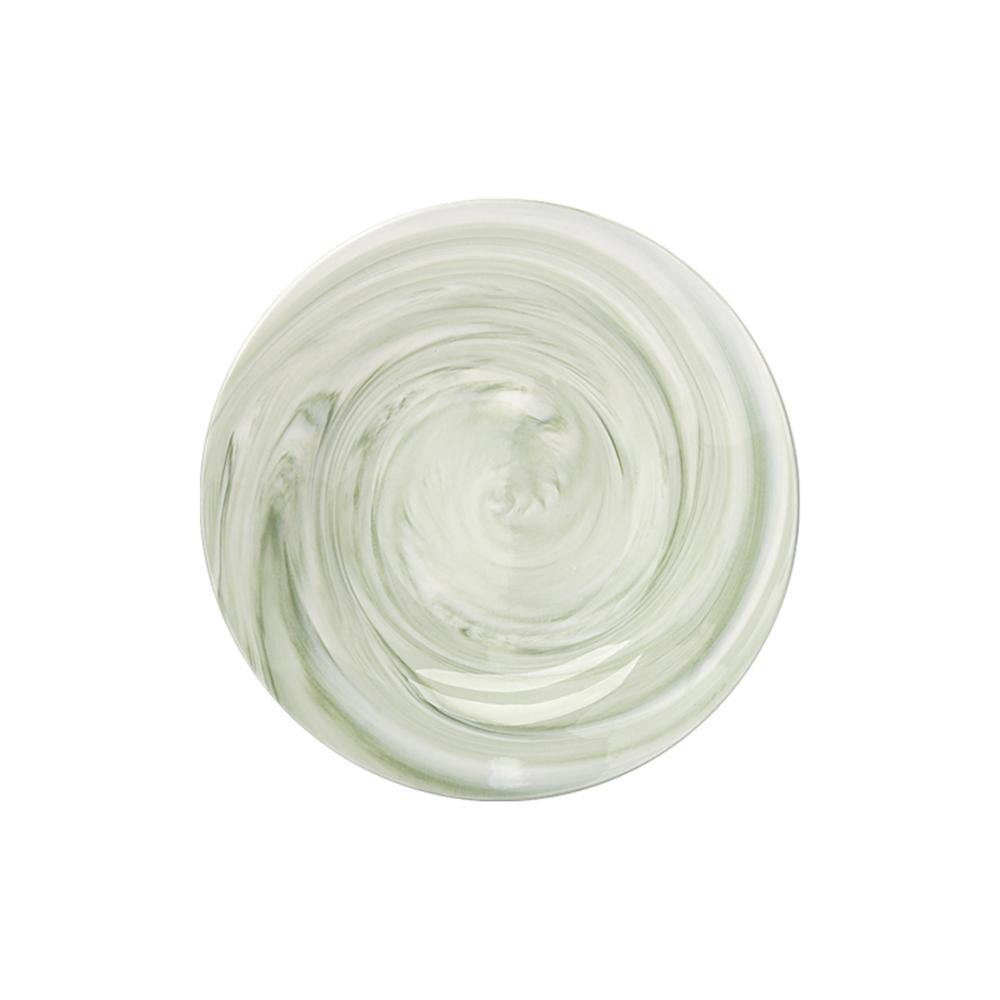 JOYYE陶瓷餐具|畫意圓盤-綠色