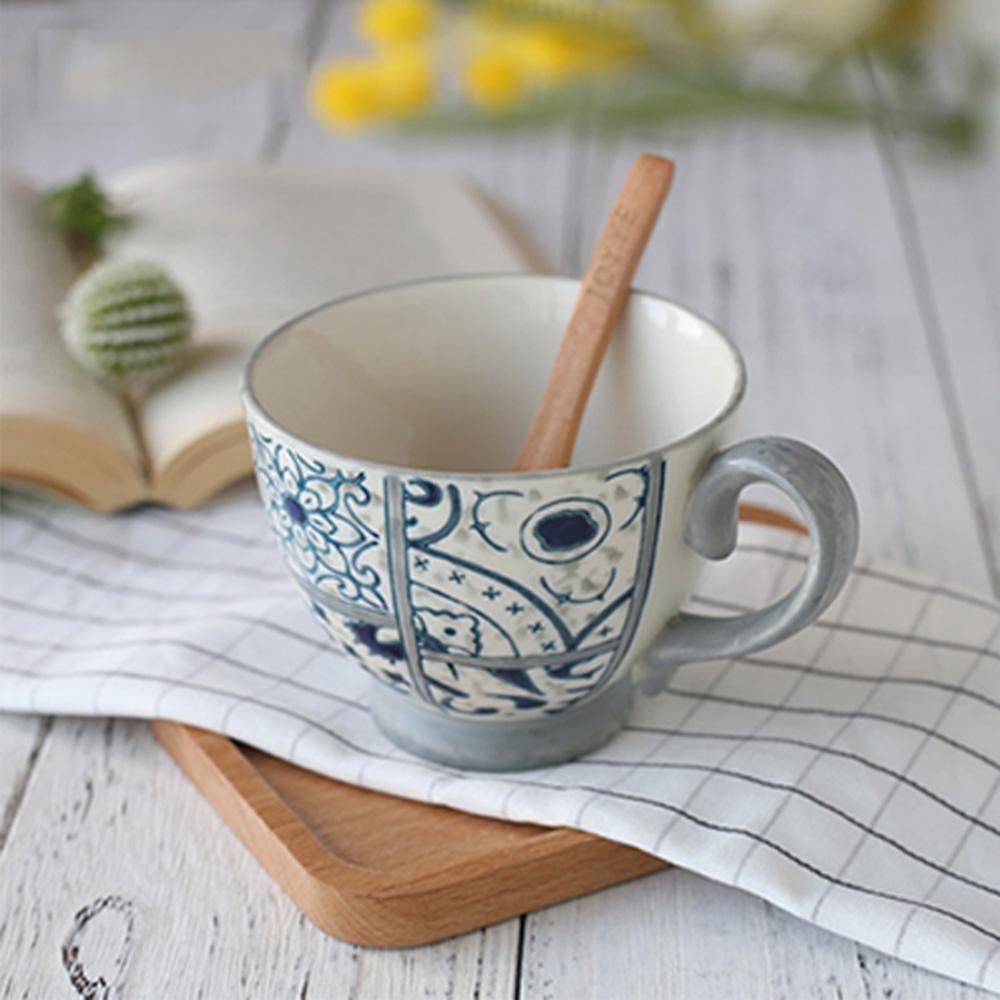 JOYYE陶瓷餐具|花如玉手繪C把杯-H