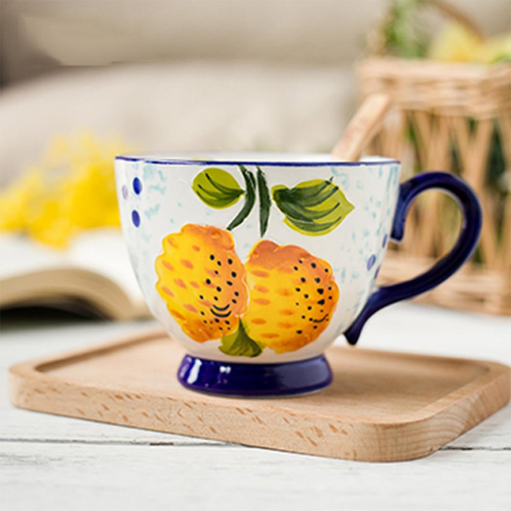 JOYYE陶瓷餐具|花如玉手繪C把杯-I