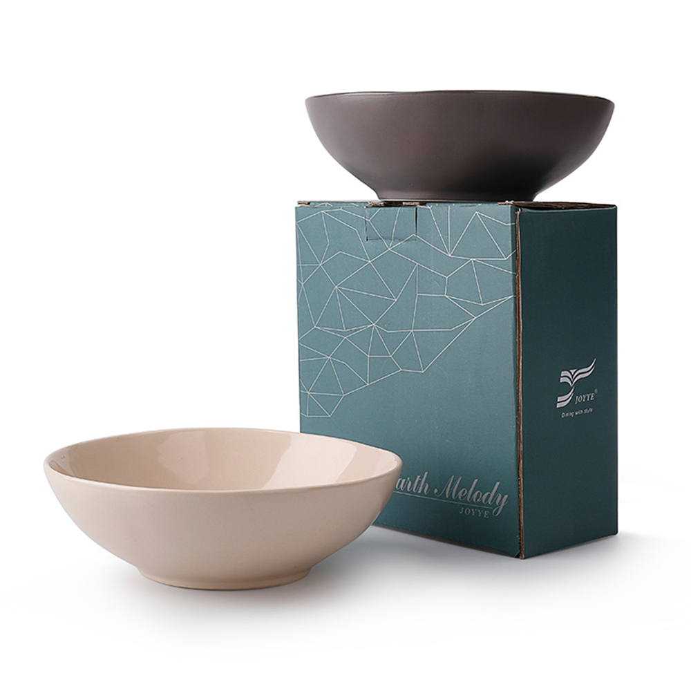 JOYYE陶瓷餐具|自然初語手捏碗-中(一套2件)