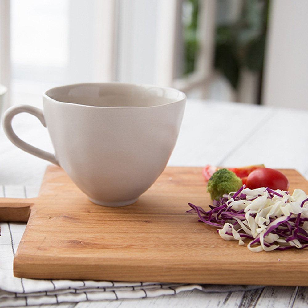 JOYYE陶瓷餐具|自然初語手捏杯-灰色