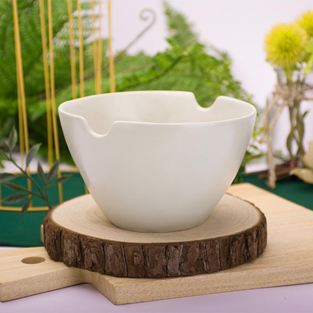 JOYYE陶瓷餐具|自然初語手捏麵碗-綠色