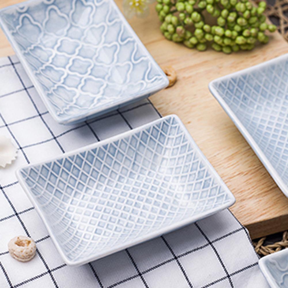 JOYYE陶瓷餐具| 幾何人生浮雕調味碟(一套2件)