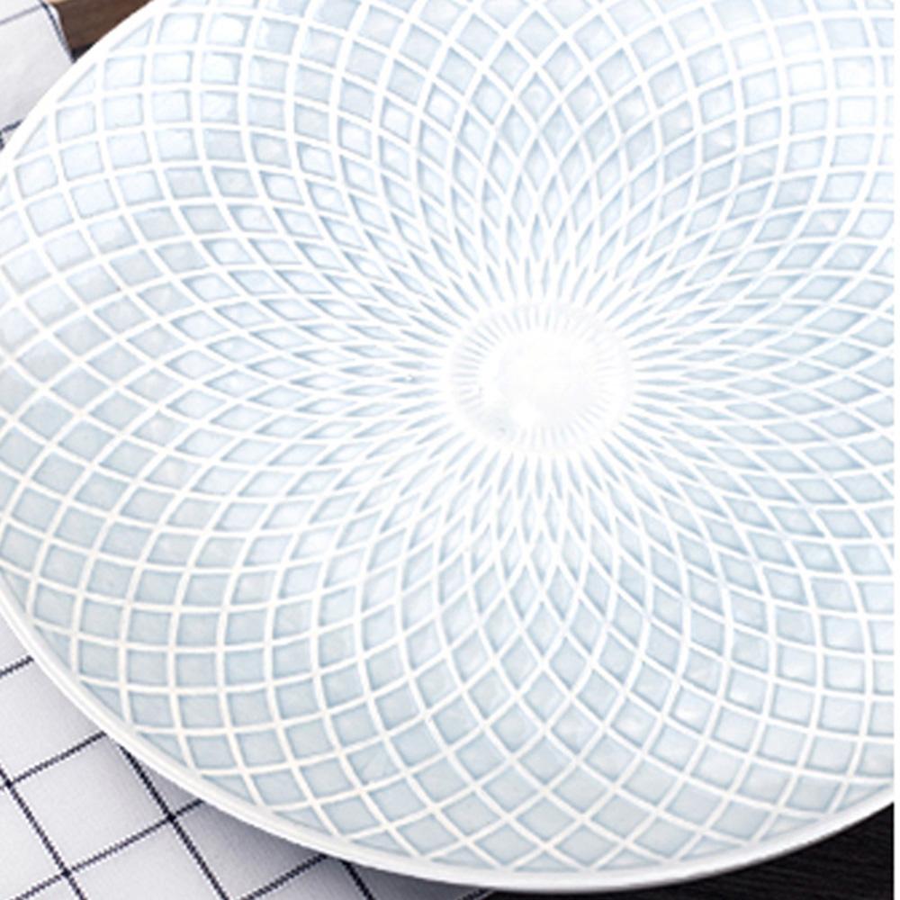 JOYYE陶瓷餐具|幾何人生浮雕10寸圓盤(一套2件)