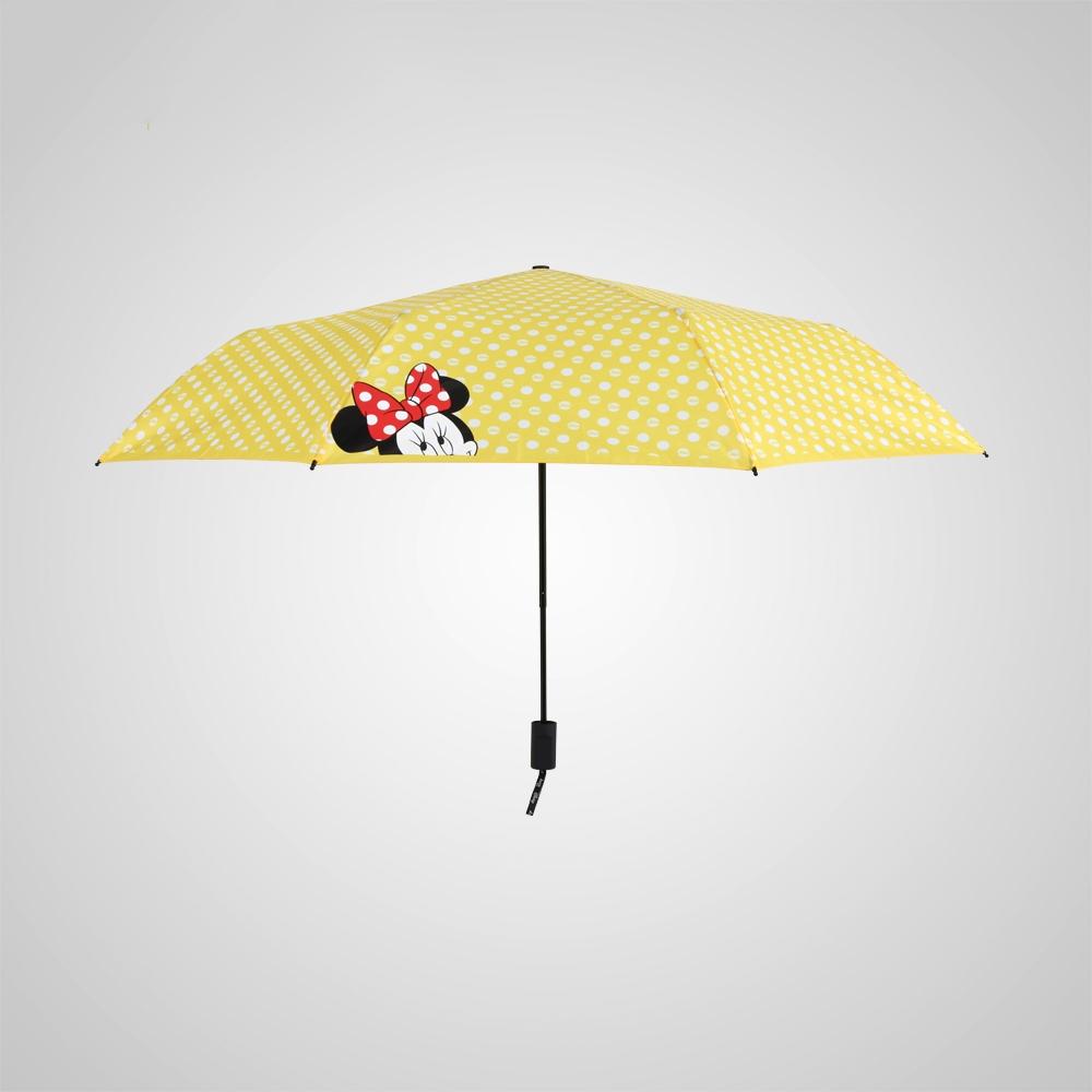 德國kobold|迪士尼官方授權-晴雨兩用傘-波點米妮-黃