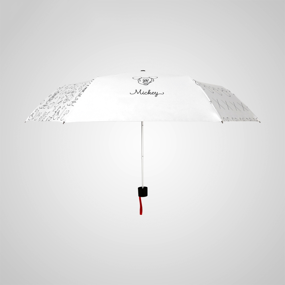 德國kobold|迪士尼官方授權-7K晴雨兩用傘-簡筆塗鴉-白