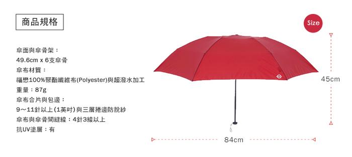 A. Brolly 亞伯尼|TheTube 地鐵系列晴雨兩用傘(沉穩黑/舞動紅/奔放綠/水漾藍)
