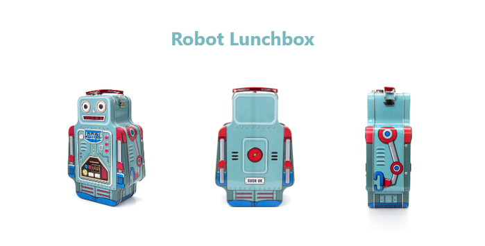 英國 Suck UK|復古機器人野餐盒