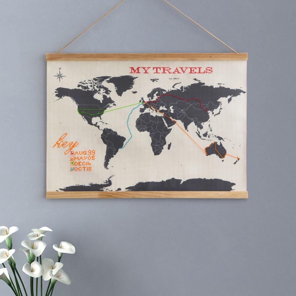 英國 Suck UK|Stitch Map 我的壁掛旅行地圖