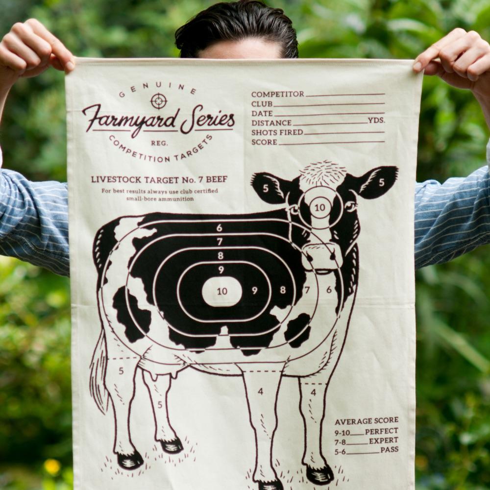 英國 Suck UK|趣味牧場動物茶巾-乳牛