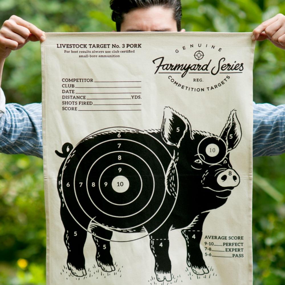 英國 Suck UK|趣味牧場動物茶巾-小豬