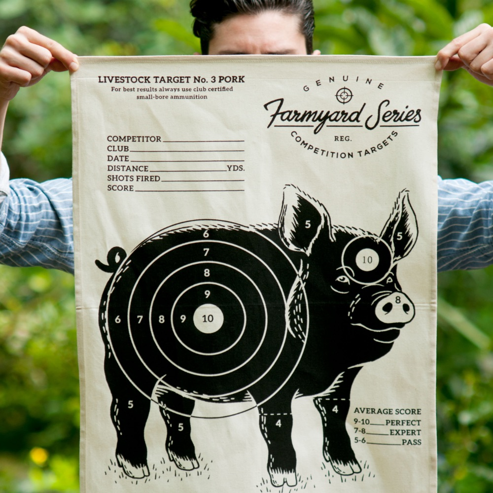 英國 Suck UK 趣味牧場動物茶巾-小豬