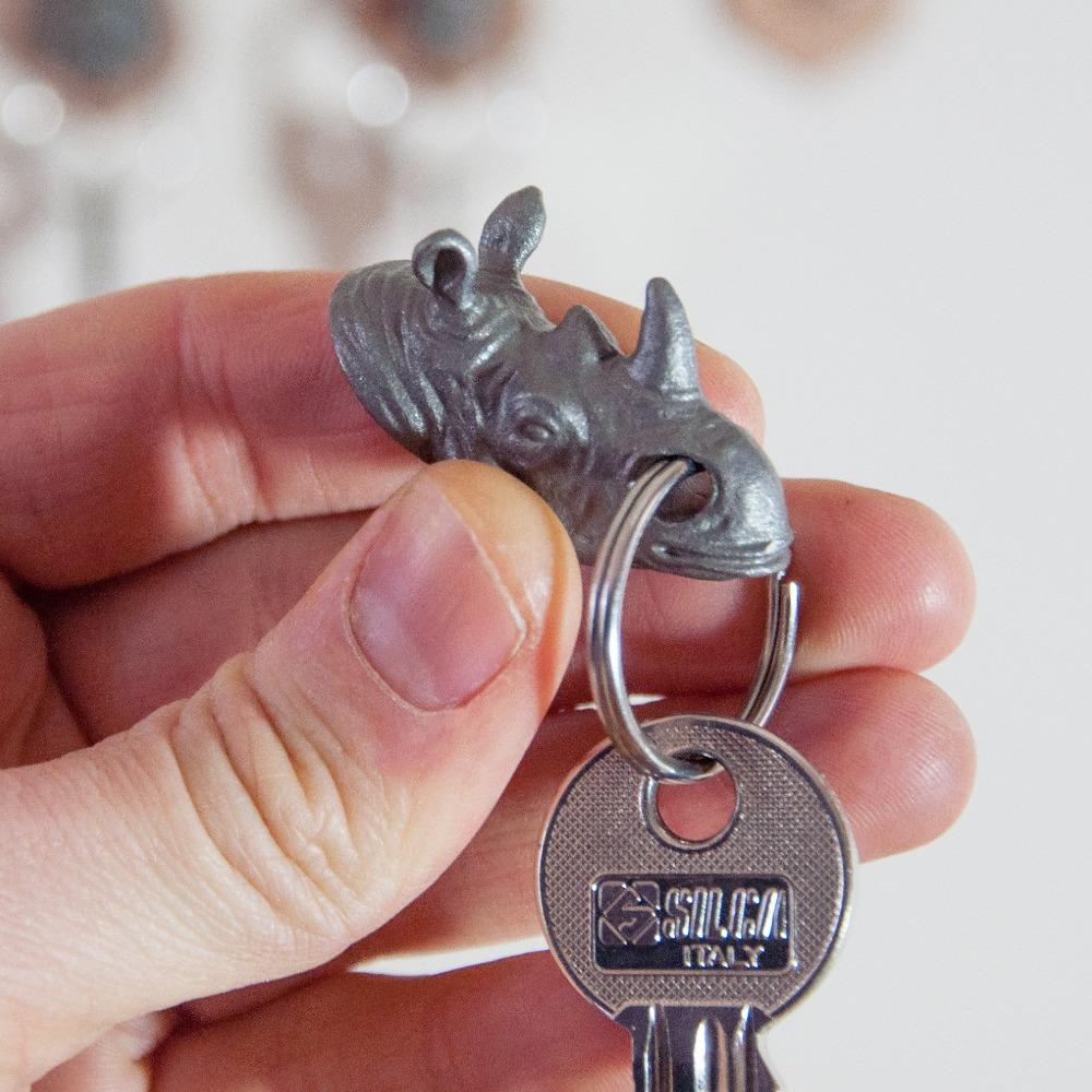 英國 Suck UK|獵人鑰匙圈-犀牛