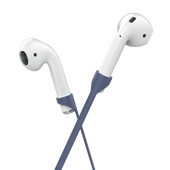 工具豆|AHAstyle AIRPODS 專用全包覆掛勾保護套(加防吊線)午夜藍