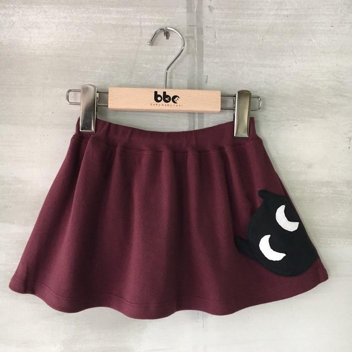 baby baby cool|小精靈口袋裙(酒紅)