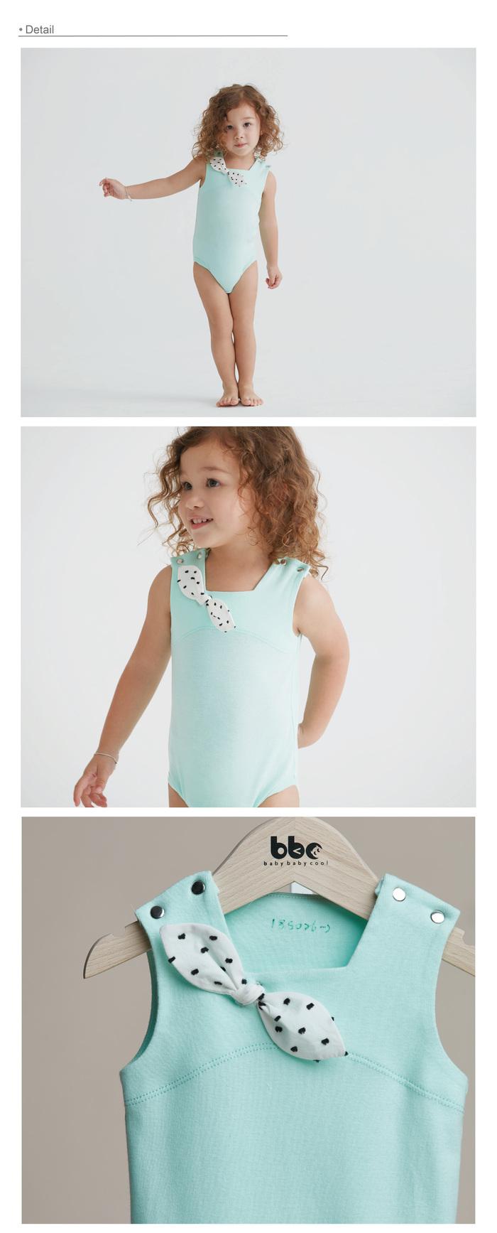 baby baby cool|赫本系列 - 第凡內方領包屁衣(綠)